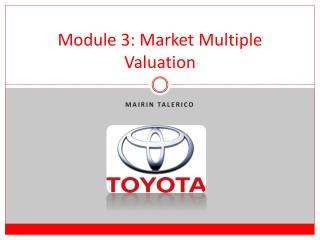 Module 3: Market Multiple Valuation