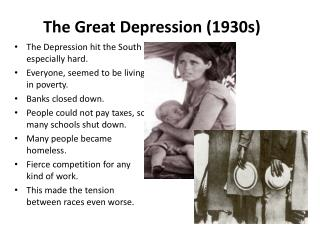 The Great Depression (1930s)