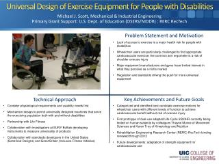 Universal Design of Exercise Equipment for People with Disabilities