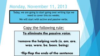 Monday, November 11, 2013