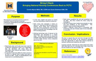 Bring It Back:  Bringing National Nursing Conferences Back to PCTU