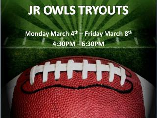 JR  OWLS TRYOUTS