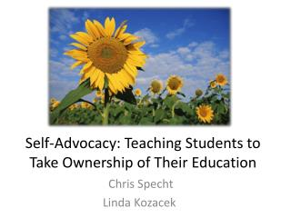 Self-Advocacy: Teaching Students to Take Ownership of Their Education