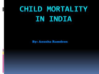 Child Mortality in India