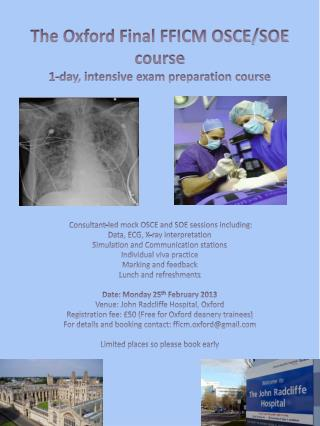 The Oxford Final FFICM OSCE/SOE course  1-day, intensive exam preparation course