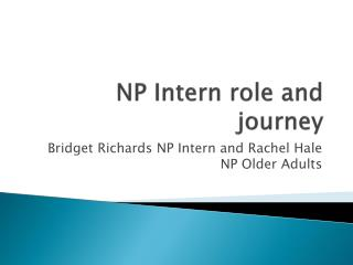 NP Intern role and journey
