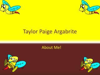 Taylor Paige Argabrite