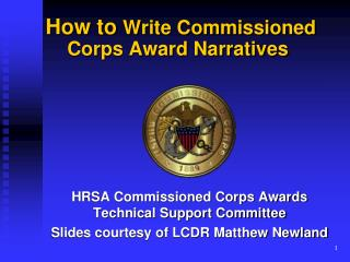 How to Write Commissioned Corps Award Narratives