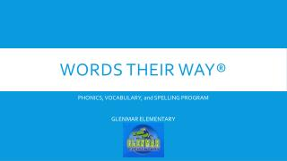 Words THEIR WAY�