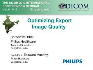 Optimizing  Export   Image Quality