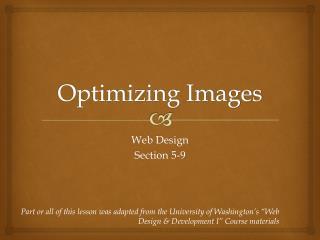 Optimizing Images