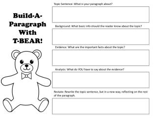 Topic Sentence: What is your paragraph about?