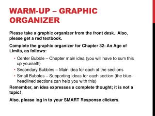 Warm-up – Graphic Organizer