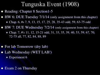 Tunguska Event (1908)