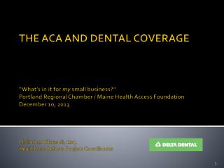 The ACA and Dental Coverage