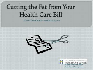Cutting the Fat from Your Health Care Bill
