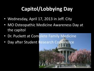 Capitol/Lobbying Day