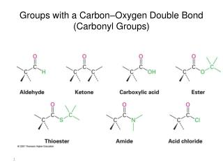 Groups with a Carbon–Oxygen Double Bond (Carbonyl Groups)
