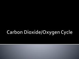 Carbon Dioxide/Oxygen Cycle