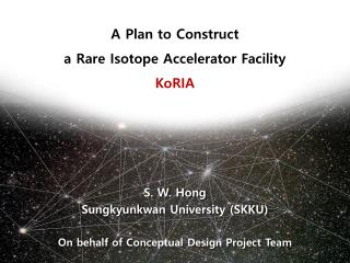 S. W. Hong Sungkyunkwan  University (SKKU) On behalf of Conceptual Design Project Team