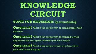 Knowledge circuit