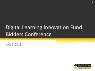 Digital Learning Innovation Fund Bidders Conference