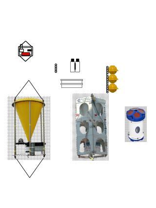 Floatation :  18-20 glass spheres