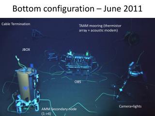 Bottom configuration � June 2011