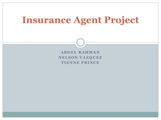 Insurance Agent Project