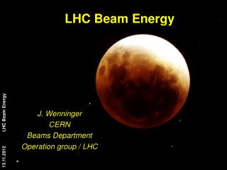 LHC  Beam Energy