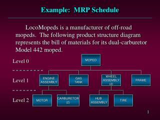 Example:  MRP Schedule