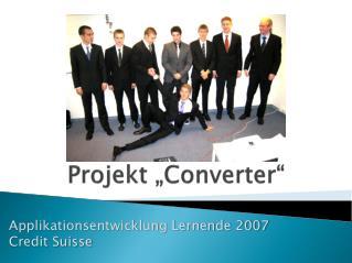 """Projekt """" Converter """""""