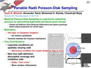 Variable Radii Poisson-Disk Sampling