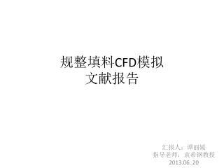 规整填料 CFD 模拟 文献报告