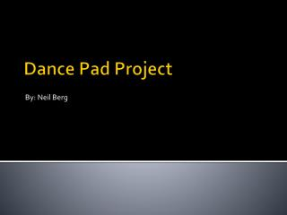 Dance Pad Project
