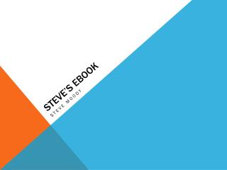 Steve's  Ebook