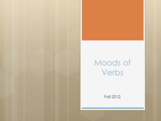 Moods of Verbs