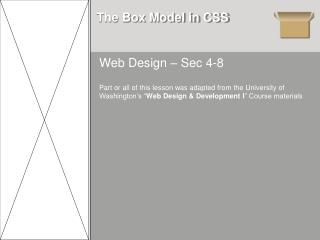 The Box Model in CSS