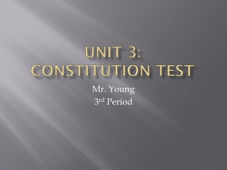 We the People Unit 3
