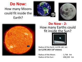 Do Now: How many Moons could fit inside the Earth?