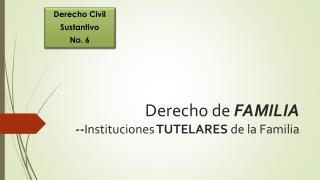 Derecho de  FAMILIA -- Instituciones  TUTELARES  de la Familia