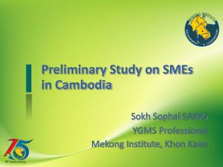 Preliminary Study on SMEs in Cambodia