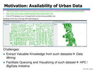 Motivation: Availability of Urban Data
