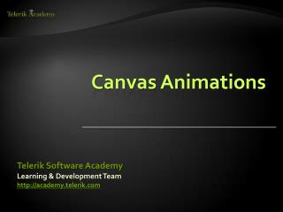 Canvas Animations