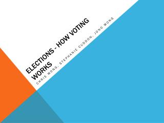 Elections - How voting works