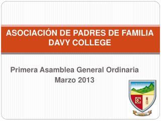 ASOCIACIÓN DE PADRES DE FAMILIA DAVY COLLEGE