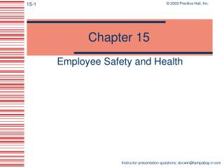 Employee Safety and Health