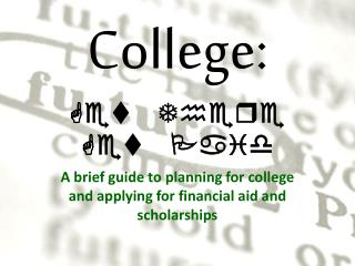 College: Get There Get Paid