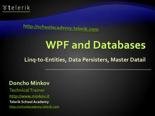 WPF and Databases