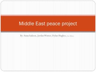 Middle East peace project